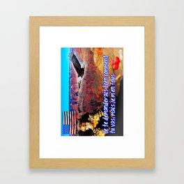 Carte Postale - Je me fous de comment tu vas Framed Art Print