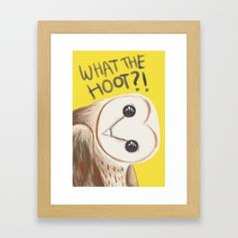 Barn owl #1 Framed Art Print