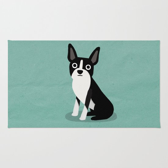 Boston Terrier - Cute Dog Series Rug