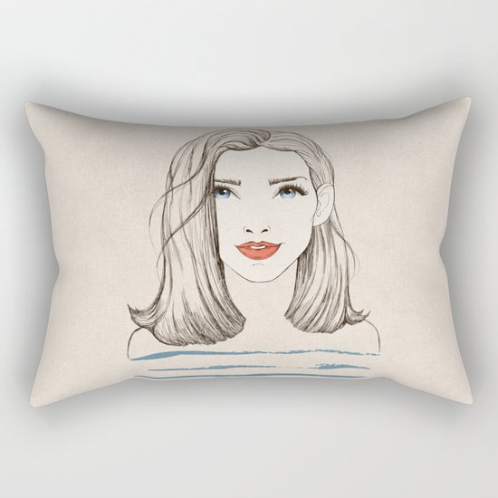Sea girl Rectangular Pillow