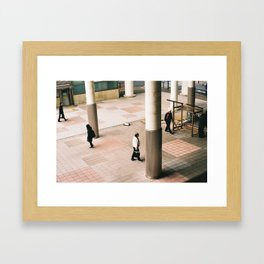 Walking through the liminal Framed Art Print