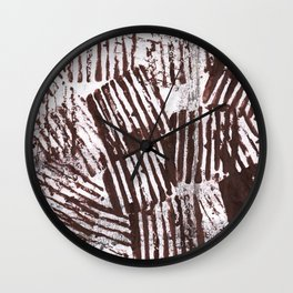 Brown abstract Wall Clock