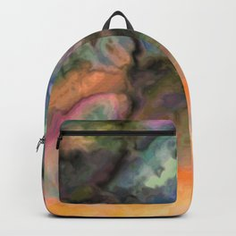 Jupiter High - rainbow black gradient marble abstract pattern Backpack