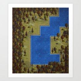Pixel Forest Art Print