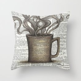 Cupfull of Happy Throw Pillow