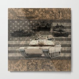 Abrams Main Battle Tank Metal Print