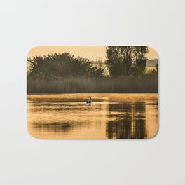 Golden morning Bath Mat