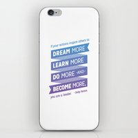 dolly parton iPhone & iPod Skins featuring Dream More - Dolly Parton Quote by brigette i design