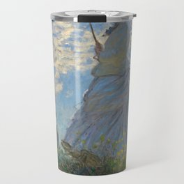 Woman with a Parasol - Madame Monet and Her Son Travel Mug