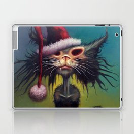 Zombie Cat Christmas Laptop & iPad Skin