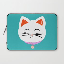 Here Kitty Kitty {aqua} Laptop Sleeve