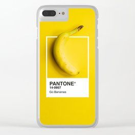 PANTONE SERIES – GO BANANAS Clear iPhone Case