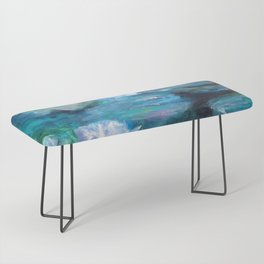 Blue Water Lilies Bench