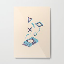 ElectroVideo PlayStation (blue) Metal Print