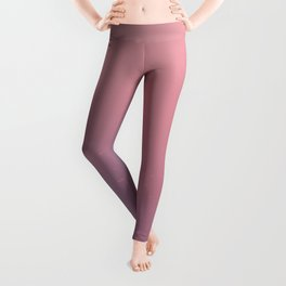 Vintage Pink and Purple Ombre Leggings