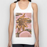 sunflower Tank Tops featuring Sunflower by Nadia Heart