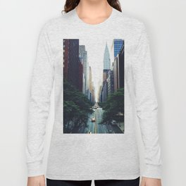 New York City Street Skyscapers Travel Wanderlust #tapestry Long Sleeve T-shirt