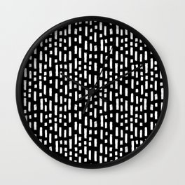 linocut dots and dashed stripes spots minimalist decor gifts hipster friendly Wall Clock
