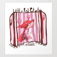 Little Red Potato Art Print