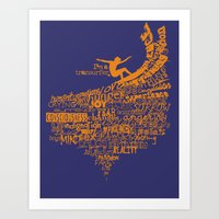 I'm a Transurfer Orange Art Print