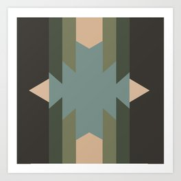 Green Star  - does it belong in the Forest or in the Space?? Art Print