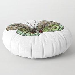 Green steampunk butterfly Floor Pillow