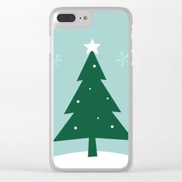 New folk artwork : xmas Tree Clear iPhone Case
