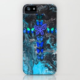 Turquoise Fire Cross iPhone Case