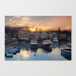 Rockport dock Canvas Print