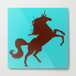unity university unicorns (brown) Metal Print