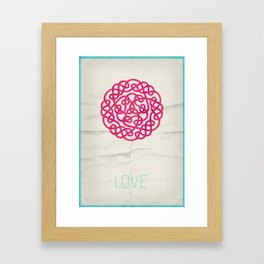 Love poster Framed Art Print