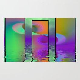 fractal triptych -2- Rug