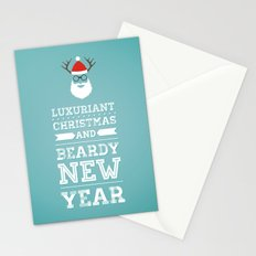Luxuriant Christmas and Beardy New Year Stationery Cards