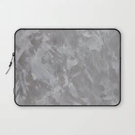 White Ink on Silver Background Laptop Sleeve