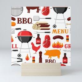 Grilling Season 4th Of July Texas BBQ Print Mini Art Print