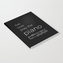 Live, love, play the piano (dark colors) Notebook