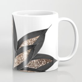 Gray Black Agave with Gold Glitter #2 #shiny #tropical #decor #art #society6 Coffee Mug