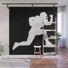 Classic American Football Pattern Silhouettes II Wall Mural