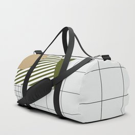 Checks Lines Grid Duffle Bag