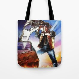Back To The Future -Ink n Painted Tote Bag