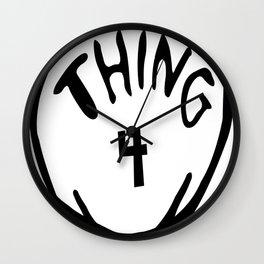 thing 4 copy Wall Clock