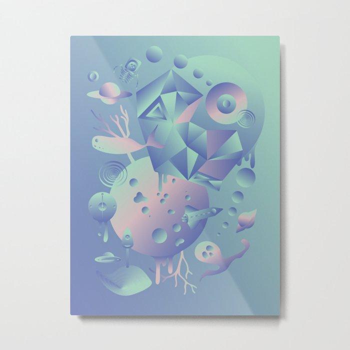 Geometromorphic Ocean Metal Print