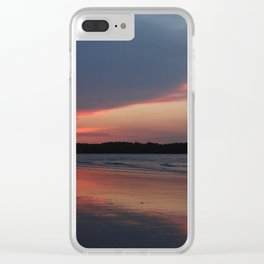 Sunset on the waterway Clear iPhone Case