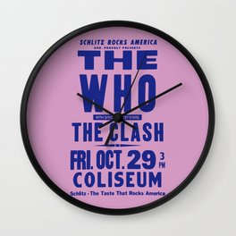 Los Angeles Concert 1982 Wall Clock