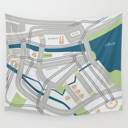 The Streets of Zurich Wall Tapestry