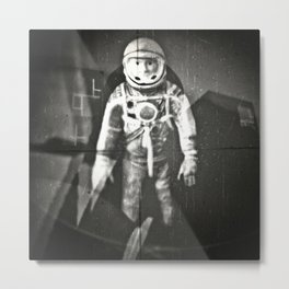 Major Tom has now left the capsule and is forever part of the hazy cosmic jive Metal Print