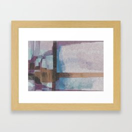 Purple Stroke Framed Art Print