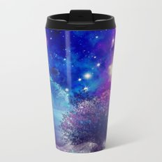 purple blue galaxy landscape Metal Travel Mug