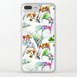 Tropical Millenial II Clear iPhone Case