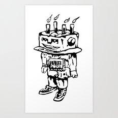 Cake-bot Art Print